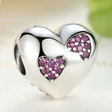 Beautiful 925 Sterling Silver Forever Love, Heart Charm