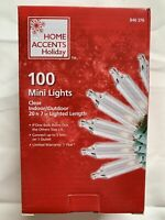 Clear Christmas Lights 100 Mini Lights SEALED