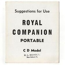 1930s/40s ROYAL COMPANION TYPEWRITER INSTRUCTION MANUAL Users Vtg Antique