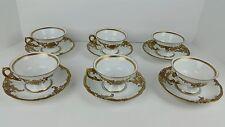 (12) Piece Vintage Wawel WAV19 Poland Recznie Malowane Cups & Saucers Set EUC