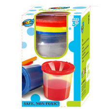 Kids Paint Cup Set 3x150ml Each Set Non-Spill Lids Lift Off for Easy Cleaning