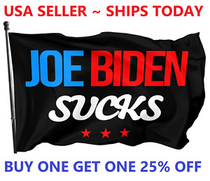 Joe Biden Sucks Flag Not My President Impeach 3x5ft Trump 2024 USA