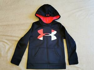 UNDER ARMOUR GIRLS HOODIE SIZE 134 BLACK AND PINK