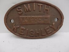 Smith of Keighley, Brass  Makers Plate.