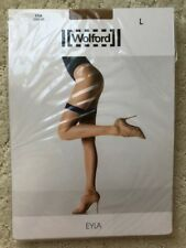 NEW WOLFORD EYLA Stay-Up Thigh-Highs Sahara / Ecrue Size L Large