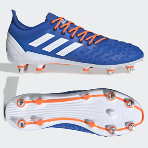 adidas Predator XP SG Mens Rugby Boots Blue SIZE 9 9.5 10 11 12 13 14 15