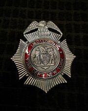 Vintage Fdny Fireman Fire Department Badge Cairns Olson Reese Helmet Wilson