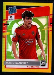 Manu Sanchez 2020-21 Chronicles Donruss Optic #3 Rated Rookie Gold Prizm RC 5/10