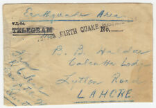 "INDIA.1935 QUETTA EARTH QUAKE MAIL TO LAHORE  ""EARTH QUAKE POSTAGE FREE"" MARKING"