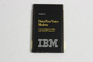 IBM 12J2785 PCMCIA DATA/FAX/VOICE MODEM V.34 33.6 KBPS/14.4 KBPS WITH XJACK