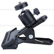 Hot Spring Clamp Camera Flash Light Stand Clip & Ball Head For Photo Studio