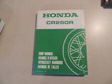Werkstatthandbuch Shop manual de taller HONDA CR 125 R 1982 manuel d`atelier