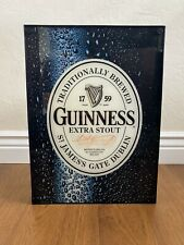 Guinness Extra Stout Light Up Bar Sign Neon Light Box Black