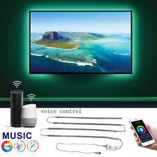 SMART WIFI MUSIC USB LED STRIP LIGHTS TV BACKLIGHT KIT FOR ALEXA GOOGLE HOME