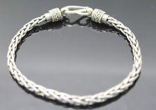Sterling Silver Hook Bracelet 7.75'' Suarti Bali Indonesia Wheat Link