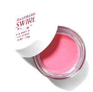 NEW Bath & Body Works Raspberry Swirl Exfoliating Lip Scrub (.5 oz)