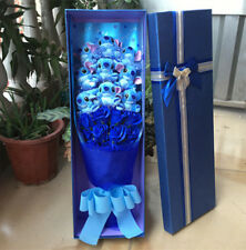 Newest Nice Bunch Of 9 Lilo Stitch Doll Toy Blue Flowers Creative Lover Gift Box