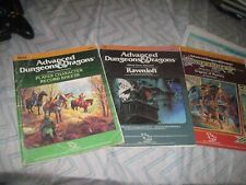 DragonLance GAME ACCESSORY LOT AD&D Dungeons Dragons DL5 I6 REF2 RAVENLOFT SHEET