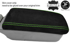 GREEN STITCH REAL SUEDE ARMREST LID COVER FITS SUBARU FORESTER SG9 2006-2008
