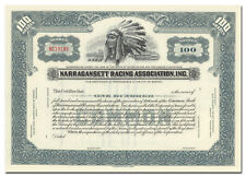 Narragansett Racing Association, Inc. Stock Certificate