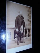 Cdv photograph man huntsman by Britton at Barnstaple 1860s