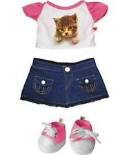 Design A Bear Denim Cat Outfit Top Skirt Trainers Clothes Costume Build Teddy