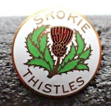 Vintage Curling Club Pin - Skokie Thistles