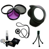 Filters + Lens Hood + Lens Cleaning Kit Bundle for Canon 50mm f/1.4