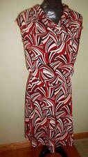 New York & Co. Sleeveless Red, Black & Cream Skirt & Blouse-Small