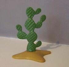 PLAYMOBIL (I205) VEGETATION - Petit Cactus Rigide sur Socle Ocre Western