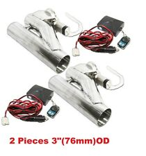 "2x3"" 76mm Electric Y-Pipe Exhaust Downpipe Cutout E-Cut Out Remote"