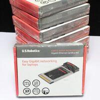 Gigabit Ethernet 10/100/1000 Ethernet CardBus NIC (USR7903) Laptops Lot of 8 New