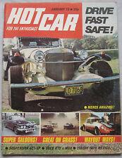 Hot Car 01/1973 featuring Gilbern Invader, Reliant Scimitar GTE, MG, Triumph