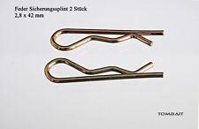 Federsplint 2,8x42mm Splinte Feder-Splint Federsplinte
