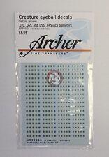 Archer Creature Eyeball Decals w/Round Pupils #1 (4 Small) (180 Figures) AR99006