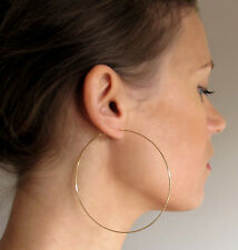 3 inch Gold Hoop Earrings - Large Thin Classic Hoop Earrings - Fashion / Elegant