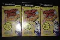 ALL 3 BONUS BOXES WACKY PACKAGES FLASHBACKS SERIES 1 TARGET TOYR R US WALMART !!