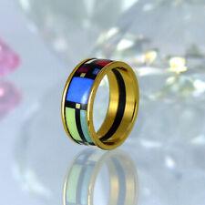 Frey Wille Ring - vergoldet - Emaille Größe 56