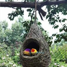 Simulation Straw Cute Bird Nest Birds House Home Garden Hanging Decoration Gift