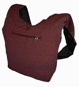 New Fair Trade Printed Cotton Monk Shoulder Bag - Sadhu Hippy Hippie Nepal