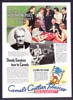 1933 Bridge Champion Shepard Barclay photo Camel Cigarettes vintage print ad