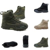 Chic Mens Military Army Combat Leather Tactical Ankle Boots Desert Hig Top Shoes