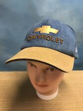 Chevrolet Denim Cap Hat  White Allen Chevy Trucks
