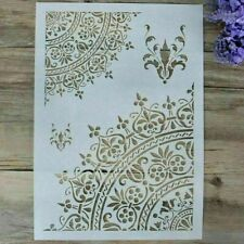 Mandala  Reusable A4 Stencil Cards Durable Furniture Wall ART Craft DIY