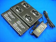 4 Bank Pro Strong Metal Charger(UL/CE)For ICOM BP-209/209N/210/210N IC-A6/V8...