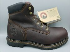 """Red Wing Irish Setter Men's 6"""" lace-Up ST Brown Leather Boots Size 7.5 2E 2W"""