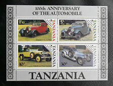 TIMBRES AUTOMOBILES : TANZANIE 1986 BLOC FEUILLET N° 42** - ROLLS-ROYCE - TBE