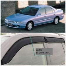Wide Window Visors Side Guard Vent Deflectors For Mitsubishi Galant Sd 1992-1996