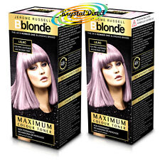2x Jerome Russell BBlonde Lilac Maximum Colour Toner 75ml Non Permanent