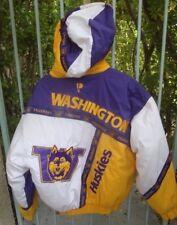 Vintage Pro Player Washington Huskies Puffy Hoodie Parker Jacket Lg